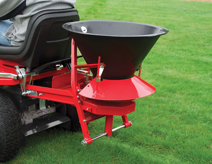 countax garden tractor accessory powered broadcast spreader