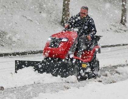 countax garden tractor accessory snow blade