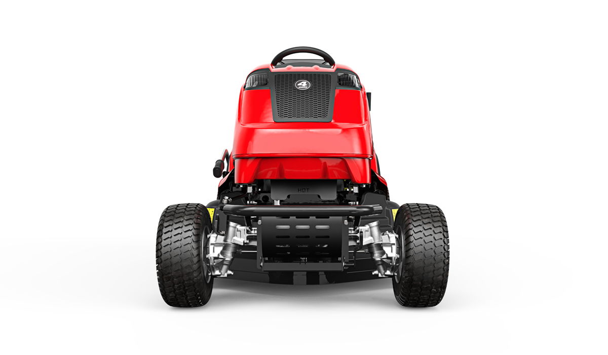 Countax B Series B255-4WD four wheel drive garden tractor riding mower front view