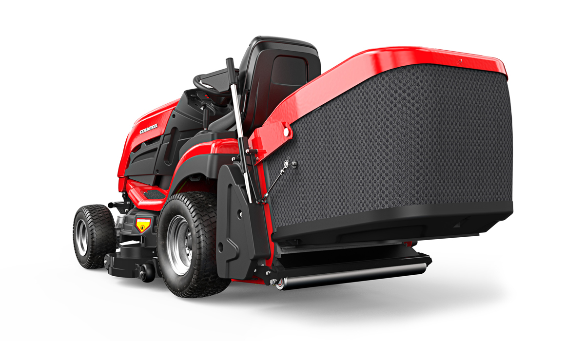 Countax B Series B255-4WD garden tractor riding mower rear view