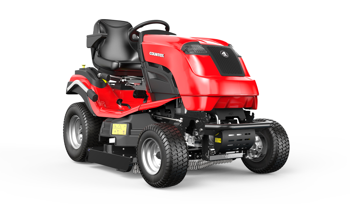 Countax B Series 4WD garden tractor ride on mower with High Grass Mulch deck right view