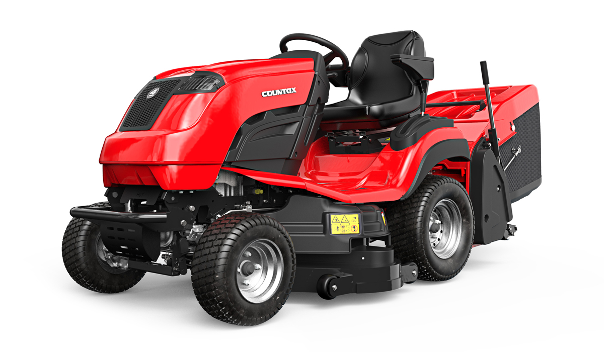 Countax B Series B255-4WD garden tractor riding mower front left view