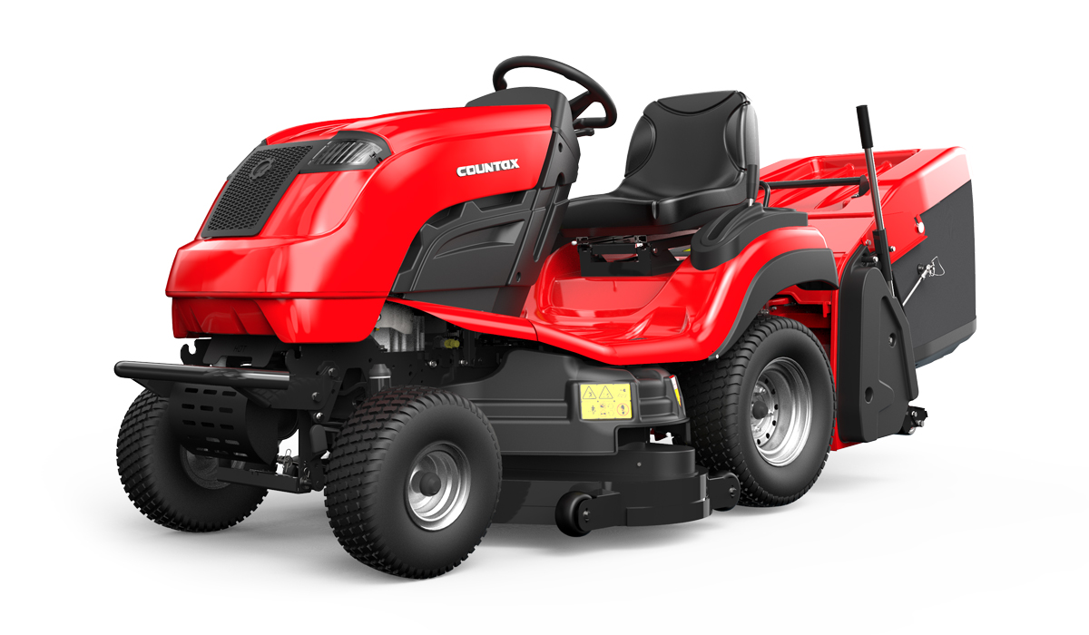Countax C Series C60 lawn garden tractor mower front view