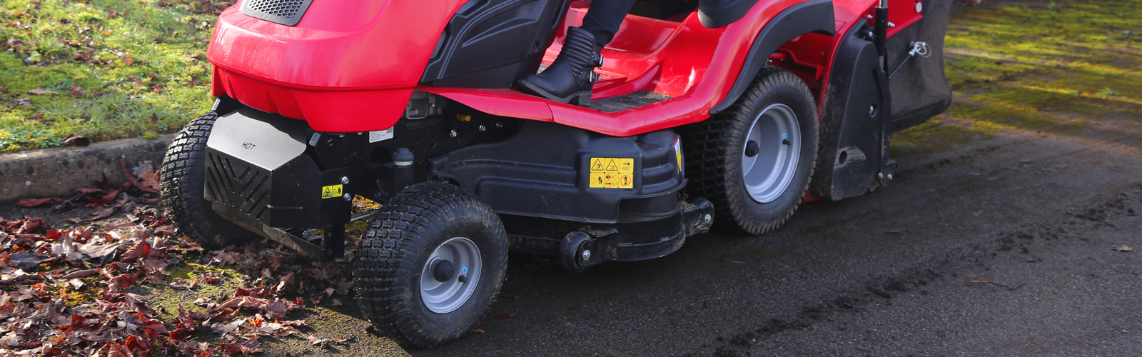 Countax lawn garden tractor mower accessory hard surface brush cassette in use