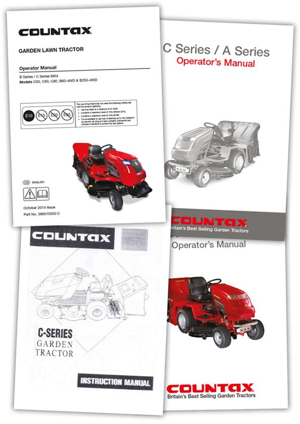View Current Or Older Countax Garden Tractors User Manual Online